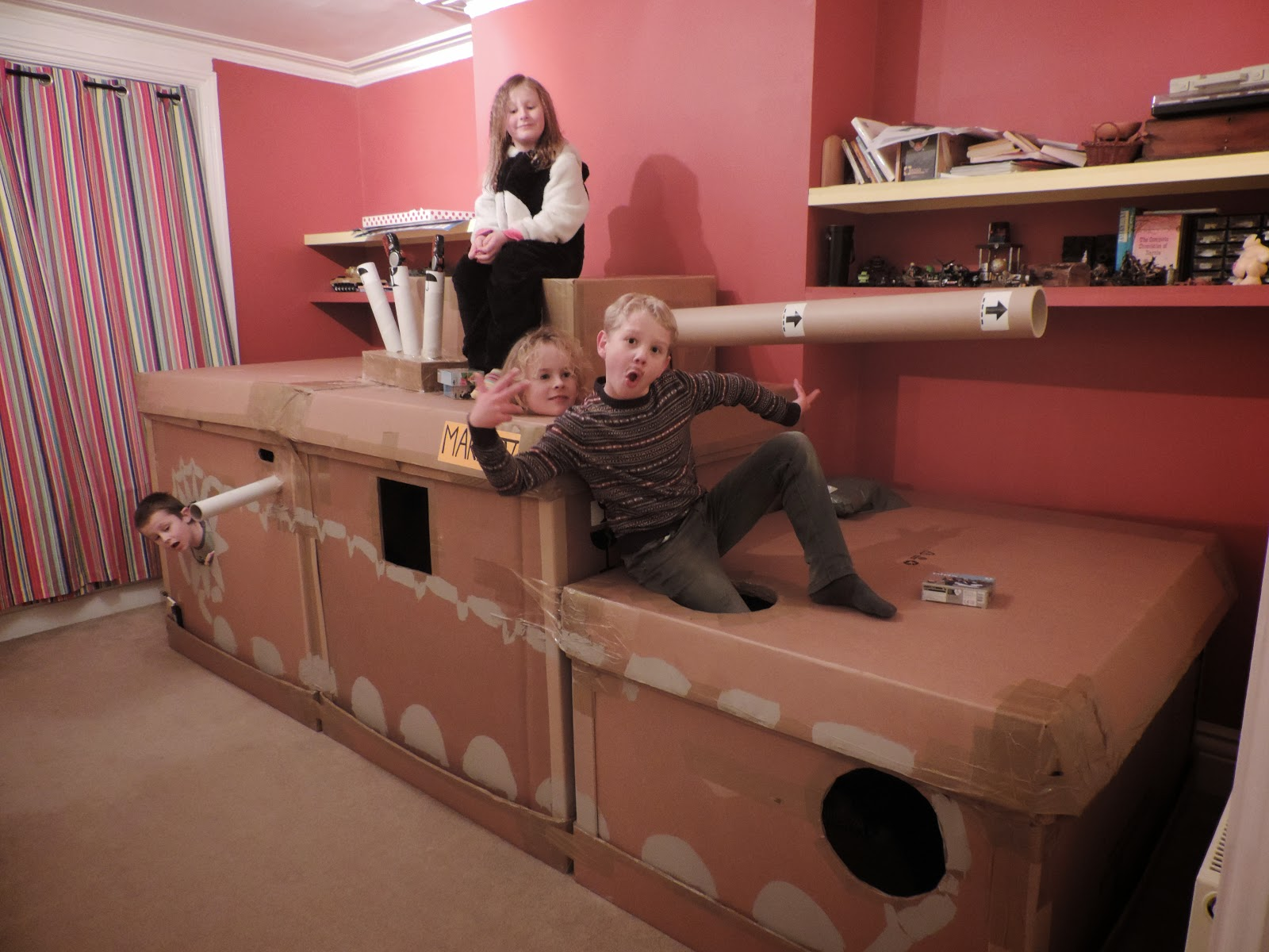 giant tank armoured division keep kids happy during party