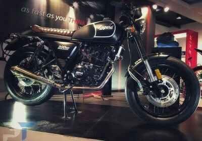 gpx legend 200: Motor desain cafe racer