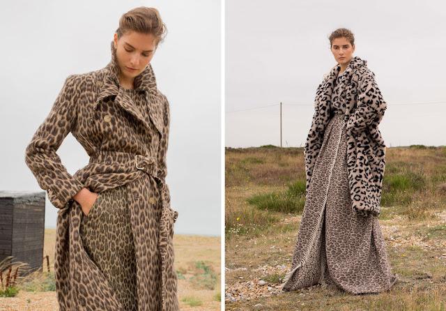 Леопардовое пальто с леопардовым платьем