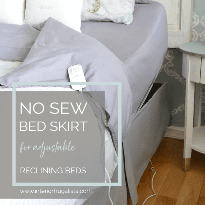 No Sew Tailored Bed Skirt For Adjustable Reclining Beds