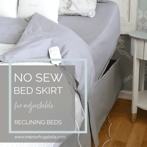 No-Sew Tailored Bed Skirt For An Adjustable Bed