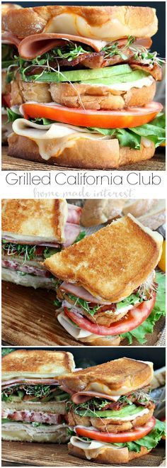 GRILLED CALIFORNIA CLUB SANDWICH – NATIONAL GRILLED CHEESE MONTH!