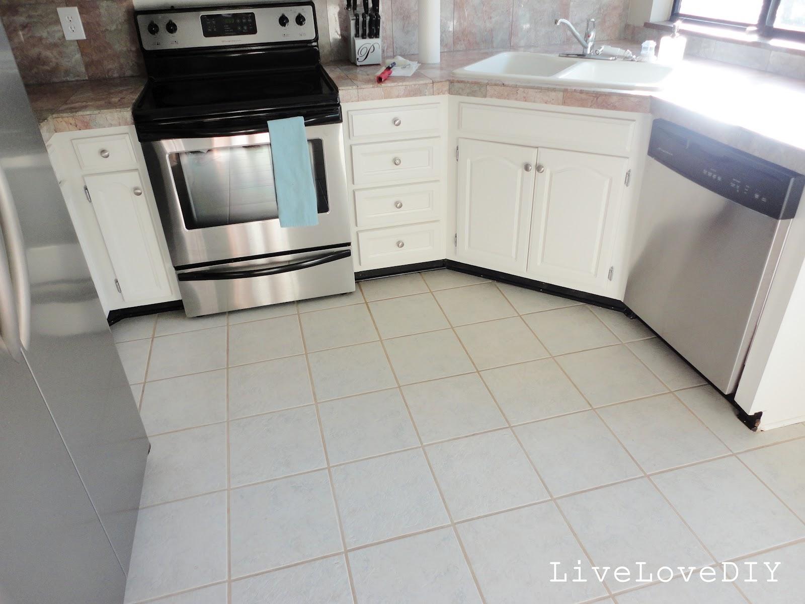 white tile floor. LiveLoveDIY  How To Restore Dirty Tile Grout