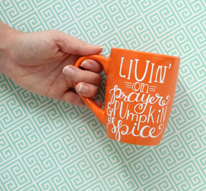 Dollar Store Mug to a Trendy Hand-lettered Coffee Mug