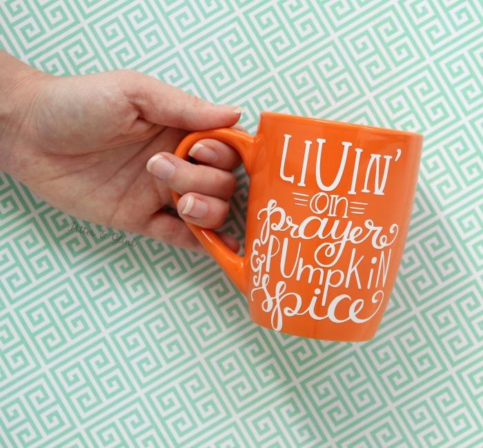 Dollar Store Mug to a Trendy Hand-lettered Coffee Mug