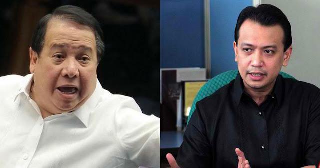 """Gordon hits Trillanes: """"Walang alam sa batas ang Kumag nayan""""."""