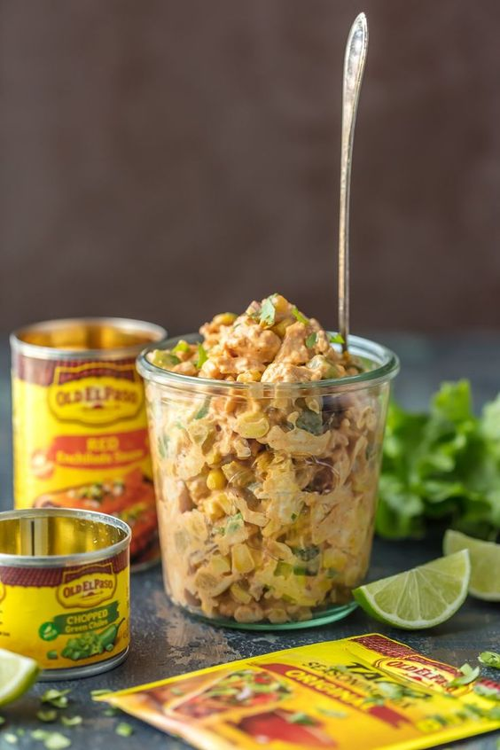 Make lunch spectacular with MEXICAN CHICKEN SALAD SANDWICHES! This easy twist on a classic is sure to please everyone at the table. Chicken salad loaded with taco seasoning, green chiles, corn