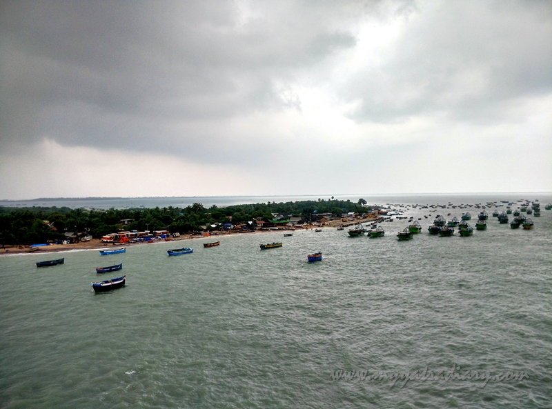 View from the Panbam Bridge in Rameshwaram