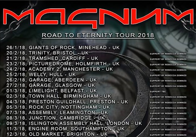 Magnum Lost On The Road To Eternity UK Tour Dates