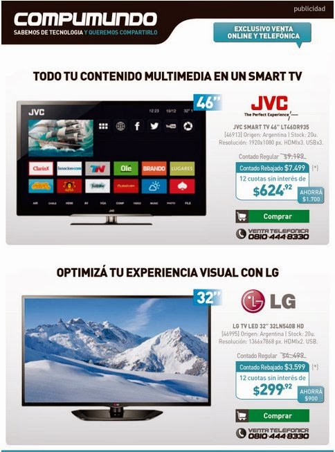 tecno promos argentina promo compumundo led y smart tv. Black Bedroom Furniture Sets. Home Design Ideas