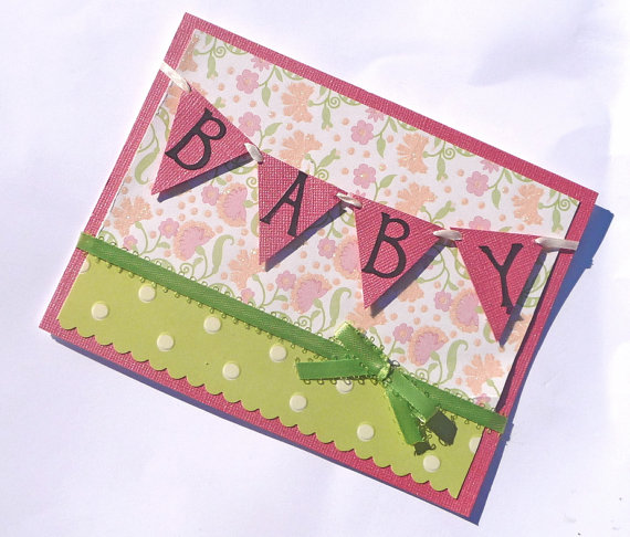 Baby Shower Card Greetings: Baby Shower Handmade Card Ideas : Let's Celebrate