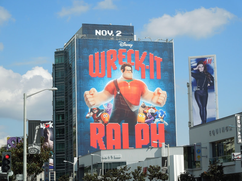Giant Disney Wreck-It Ralph billboard
