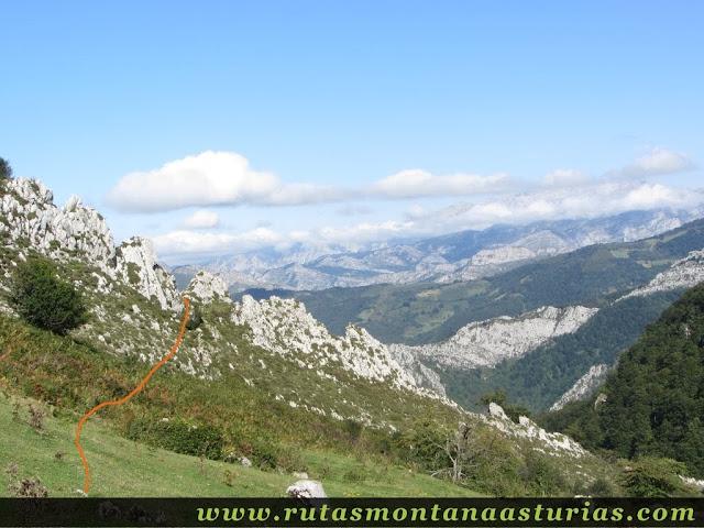 Ruta circular de Taranes al Tiatordos: Salida de Brañadosu