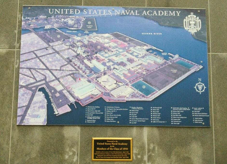 annapolis naval academy map images