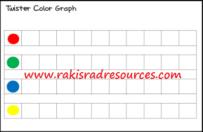 Free twister color graph recording sheet to combine math and active learning - from Raki's Rad Resources.