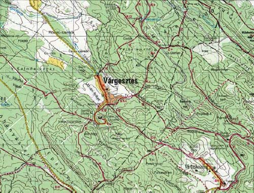 várgesztes térkép Gesztes.hu: Vértes hegység   turistatérkép várgesztes térkép