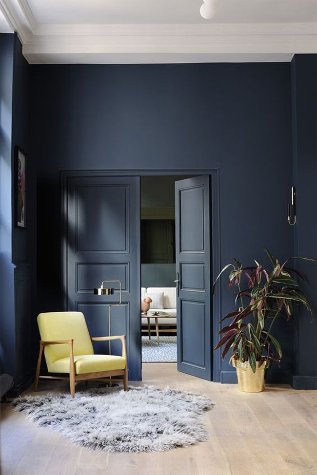 Bubby And Bean Living Creatively Paint Love Dark Blue Walls