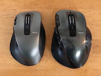 左がMサイズのM-XGM20DLBK  右がLサイズのM-XG3DLBK