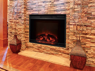 The Edgeline Electric Fireplace firebox insert is designed to fit into an existing mantel or recessed wall.