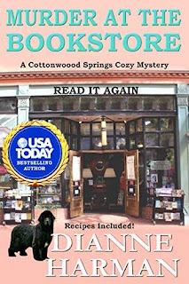 Murder at the Bookstore - a heart warming cozy mystery book promotion Dianne Harman