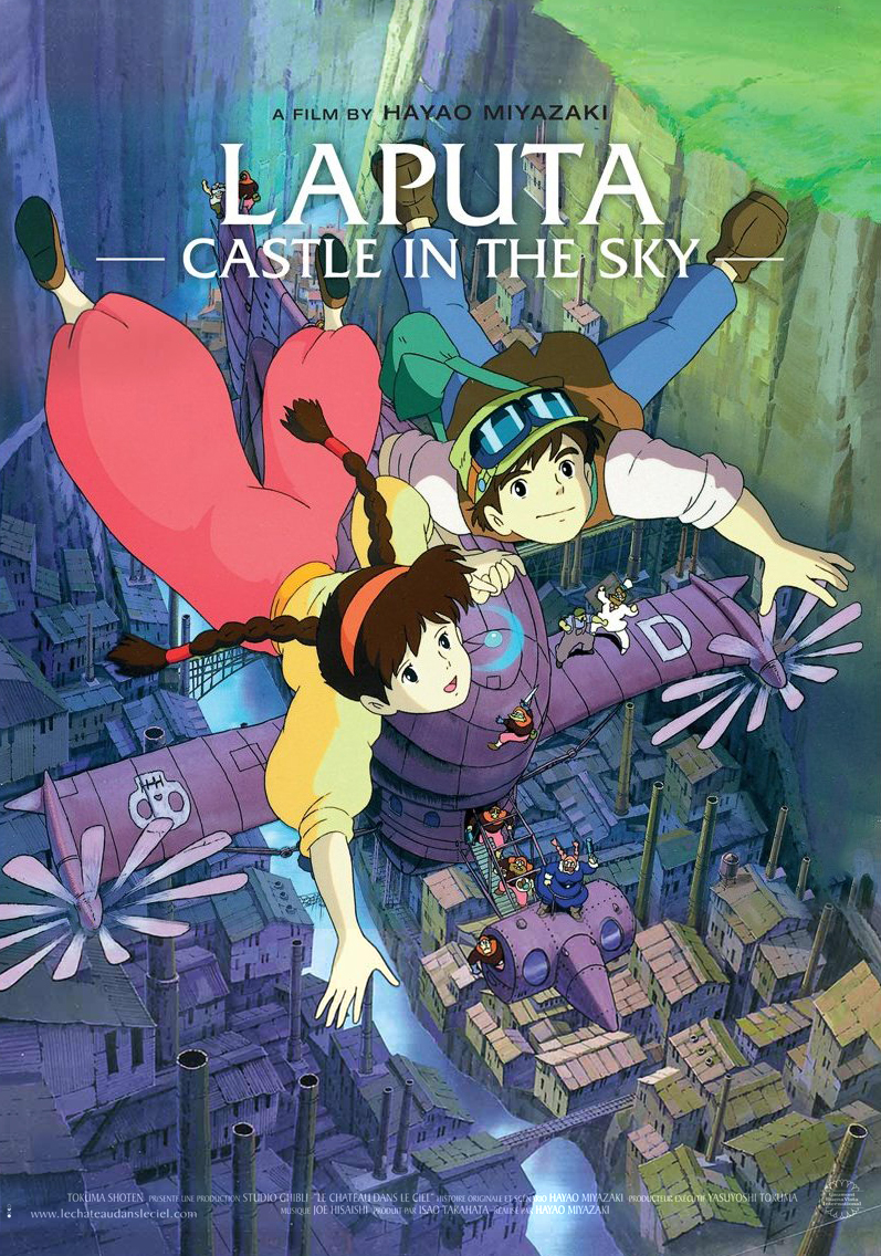 02c5ab9ad The Geeky Nerfherder: Movie Poster Art: Castle In The Sky (1986)