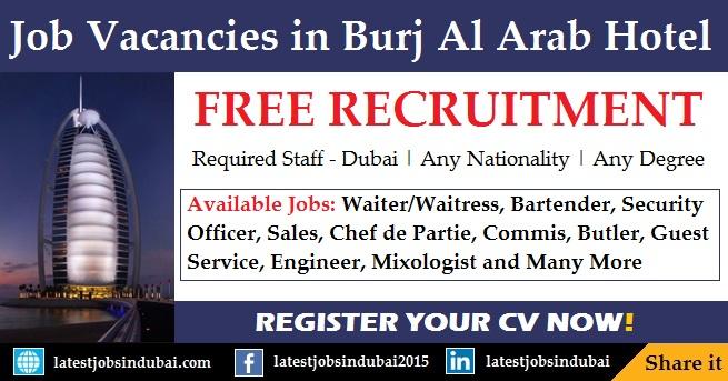 Burj Al Arab careers and jobs in Dubai