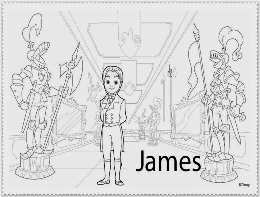 sofia the first coloring pages james