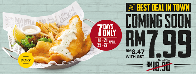 The Manhattan FISH MARKET Fish 'N Chips Dory Deal Discount Promo
