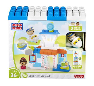 JUGUETES - MEGA BLOKS Aeropuerto Buen Día Juego de construcción - bloques - infantil Piezas: 36 | Edad: 1-5 Años Comprar en Amazon España