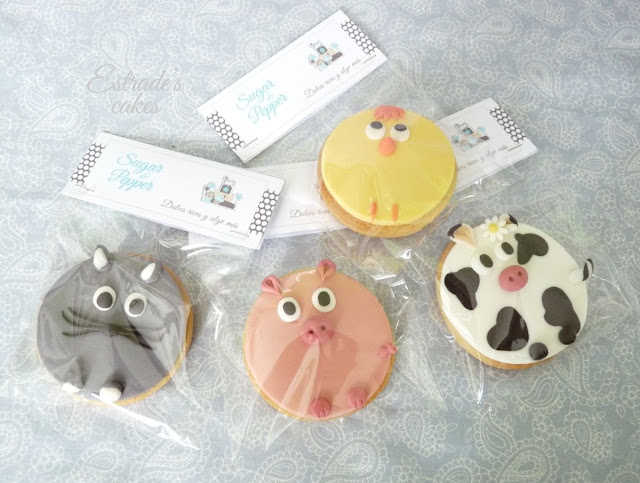 galletas con fondant de animales