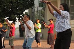 Senam Doa di Paroki Harapan Indah