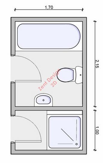 Bathroom 44 plans pdf zent design 2d for Bathroom design 2d