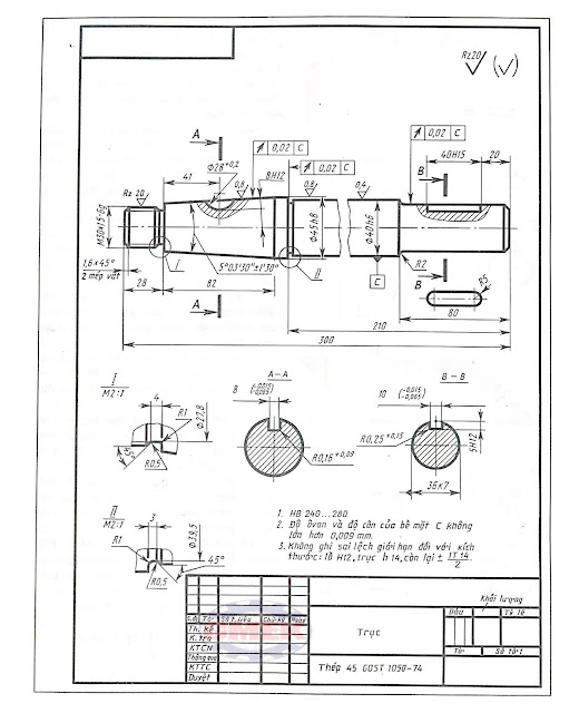 Cách đọc bản vẽ kỹ thuật, cách đọc bản vẽ kỹ thuật xây dựng, bản vẽ co khí, vẽ kỹ thuật cơ khí
