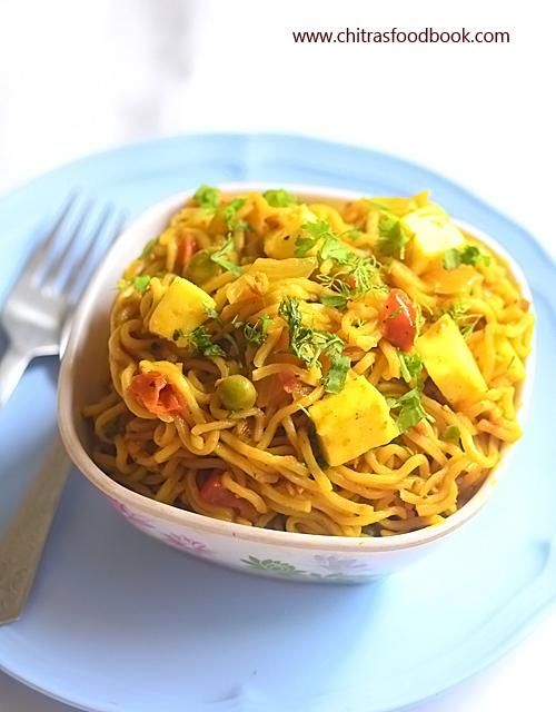 Maggi paneer masala noodles