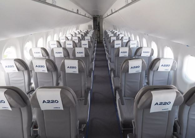 Airbus A220-100 cabin