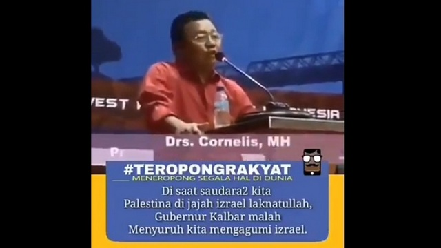 Waduh! Gubernur dari PDIP Ini Malah Minta Tiru Zionis Israel