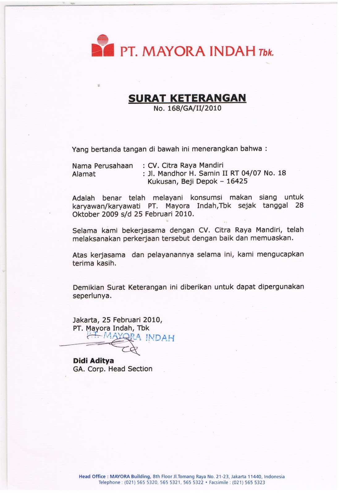 Alamat Pt Mayora Indah Tbk Softwaremonsterinfo