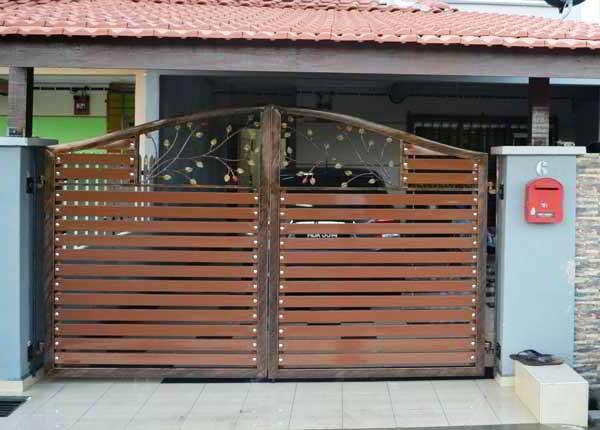 Pintu Pagar Rumah Teres Desainrumahid Com