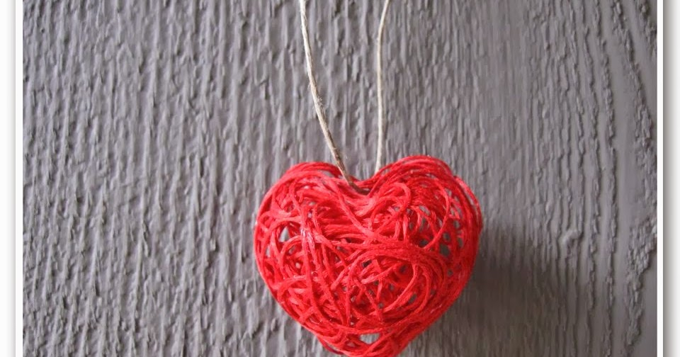 Valentine's Day String Heart Craft Tutorial