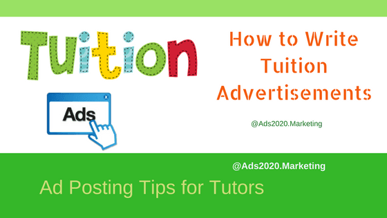 How to Write Tuition Advertisements- Ad Posting Tips for Tutors-560x315