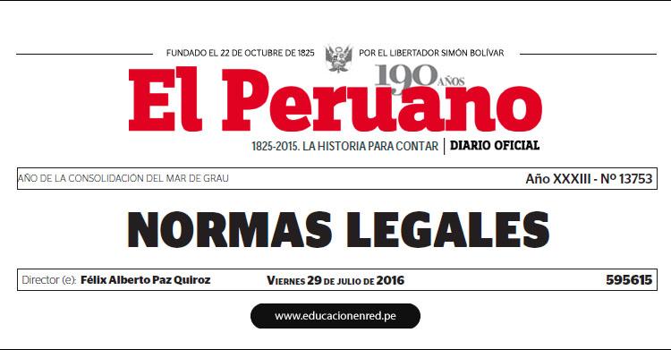 R. S. Nº 167-2016-PCM - Nombran Ministro de la Producción - PRODUCE (Bruno Giuffra Monteverde) www.pcm.gob.pe