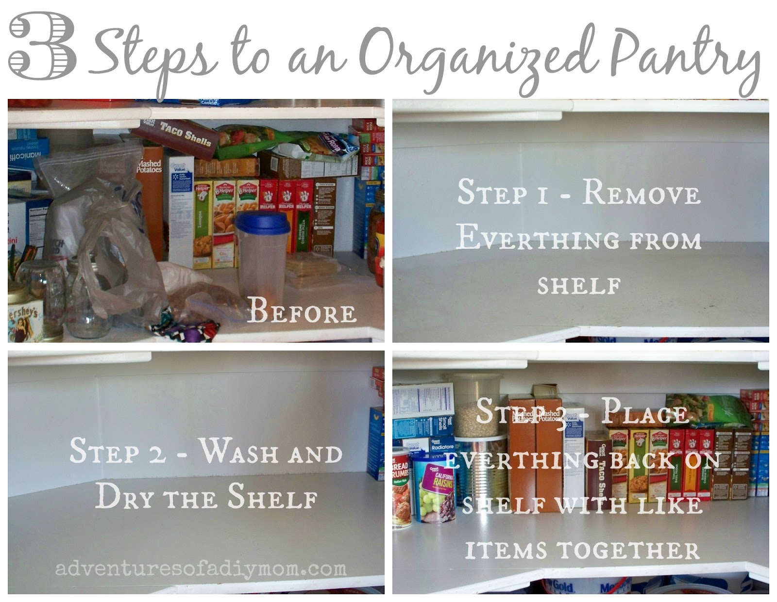 3 Steps to an Organized Pantry