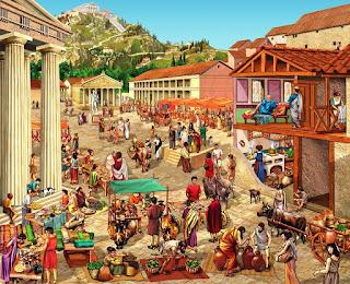 la vita dei Greci, il commercio e i mercati