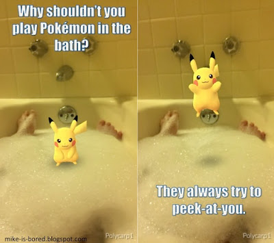 pokemon go in the bathtub meme