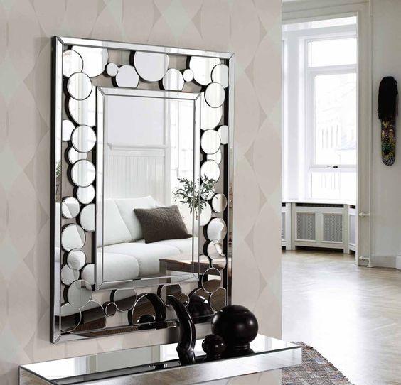Modern wall mirror design ideas for living room wall - Living room wall ideas with mirrors ...