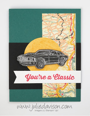 Stampin' Up! Geared Up Garage: You're a Classic Card ~ 2019 Occasion Catalog ~ www.juliedavison.com