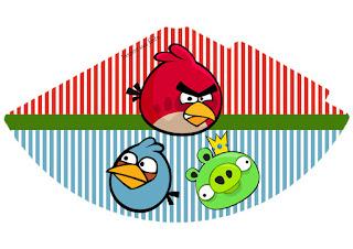 Gorro para Imprimir Gratis de Angry Birds.