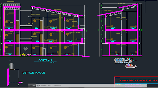 Psychology clinicstoreys in AutoCAD