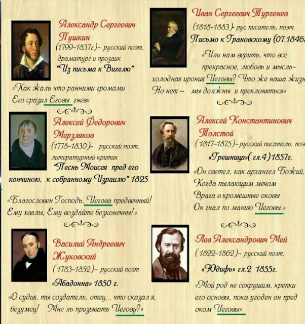 Имя Бога писатели