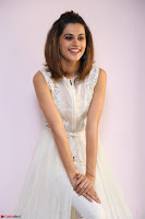 Taapsee Pannu in cream Sleeveless Kurti and Leggings at interview about Anando hma ~  Exclusive Celebrities Galleries 064.JPG